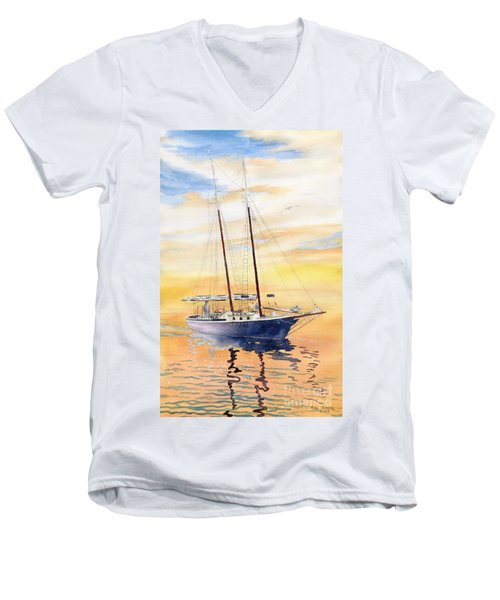 Sunset Cruise Men's V-Neck T-Shirt by Melly Terpening