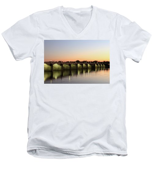 Sunset Hues Men's V-Neck T-Shirt