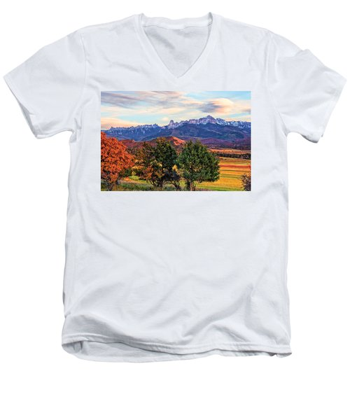 Sunset Over Owl Creek Pass Men's V-Neck T-Shirt
