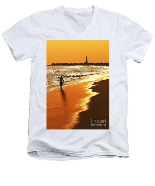 Sunset Surfer Men's V-Neck T-Shirt