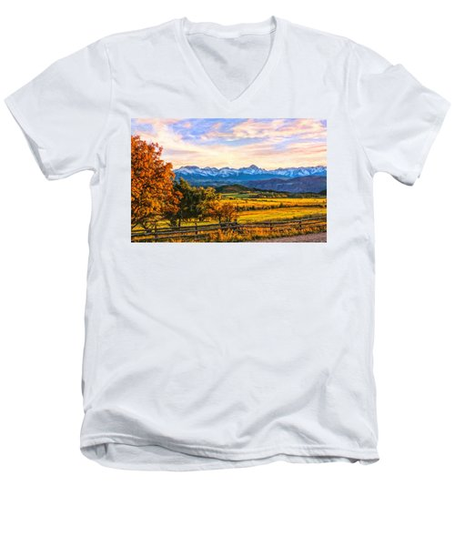 Sunset View Men's V-Neck T-Shirt