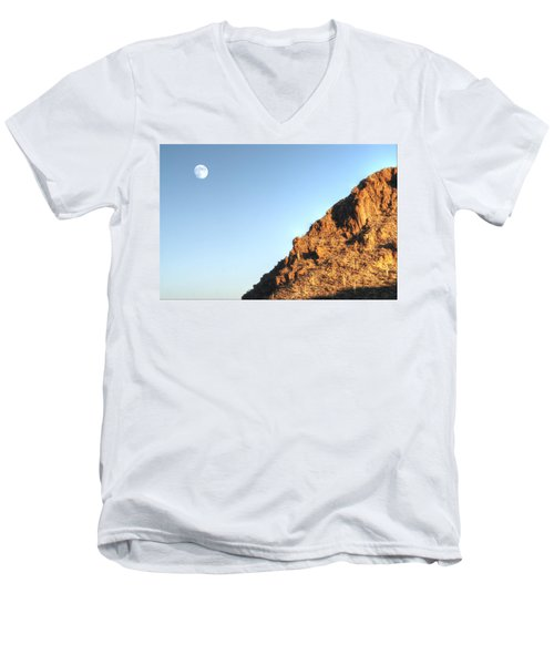 Superstition Mountain Men's V-Neck T-Shirt by Lynn Geoffroy