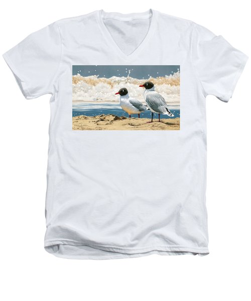 Surf 'n' Turf - Franklin's Gulls Men's V-Neck T-Shirt