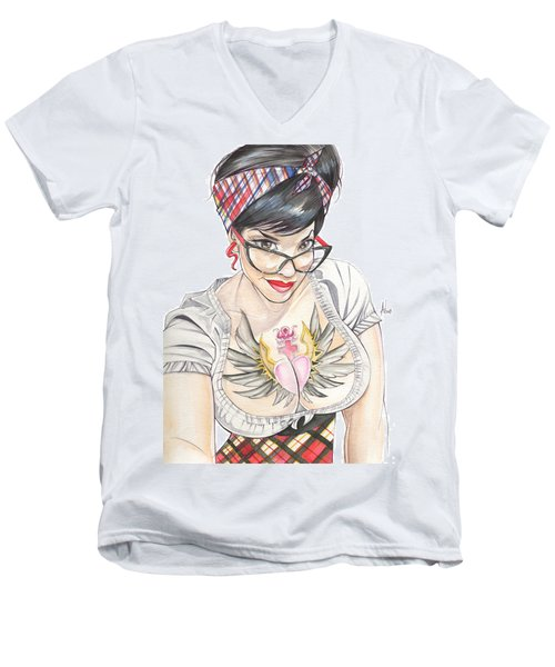 Susy Babi Azevedo Men's V-Neck T-Shirt
