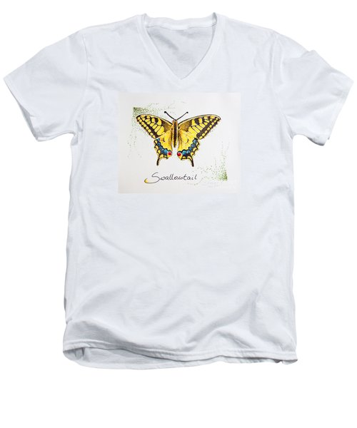 Swallowtail - Butterfly Men's V-Neck T-Shirt by Katharina Filus