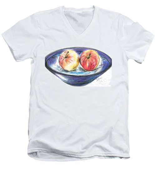 Sweet Crunchy Apples Men's V-Neck T-Shirt by Teresa White