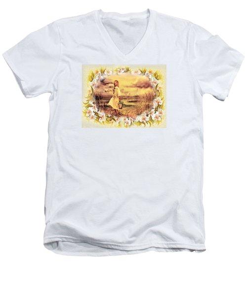 Sweet Memories A Trip To The Shore Men's V-Neck T-Shirt by Irina Sztukowski