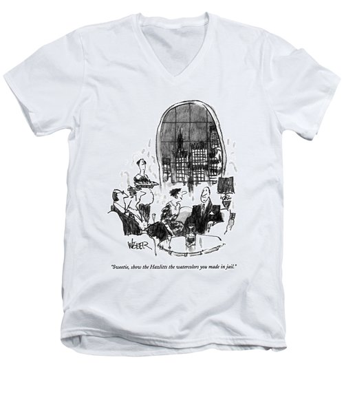 Sweetie, Show The Hazlitts The Watercolors Men's V-Neck T-Shirt