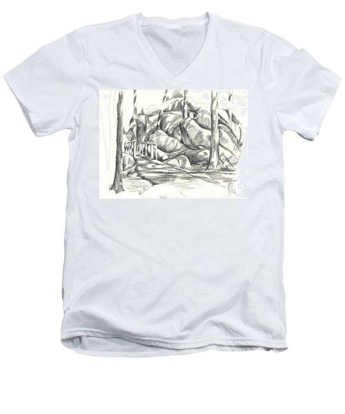 Swirling Cast Shadows At Elephant Rocks  No Ctc101 Men's V-Neck T-Shirt