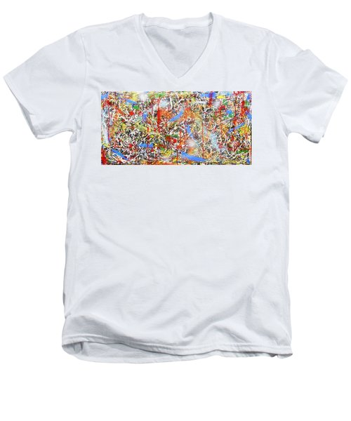 Swirls Amore Men's V-Neck T-Shirt