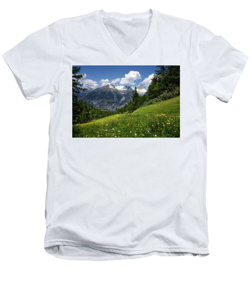 Switzerland Bietschhorn Men's V-Neck T-Shirt