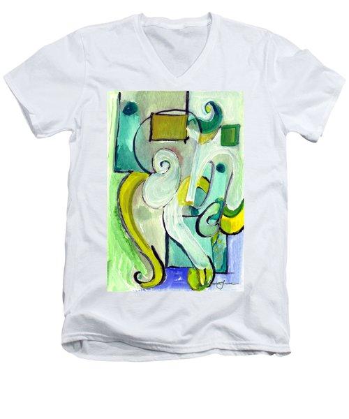 Symphony In Green Men's V-Neck T-Shirt