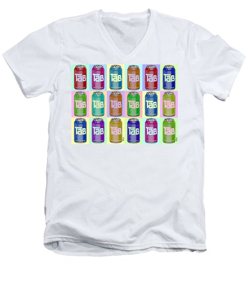 Tab Ode To Andy Warhol Repeat Horizontal Men's V-Neck T-Shirt