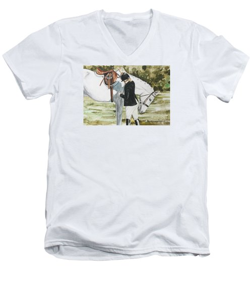 Tacking Up Men's V-Neck T-Shirt