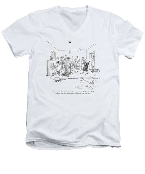 Take It From The Beginning. Act One. 'gypsy.' Men's V-Neck T-Shirt