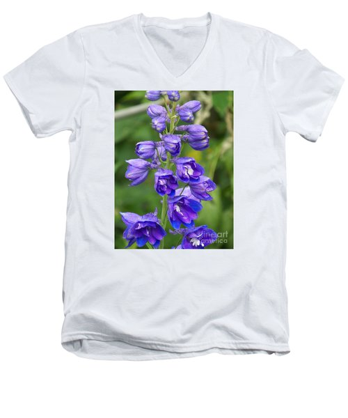 Men's V-Neck T-Shirt featuring the photograph Tall Garden Beauty by Eunice Miller