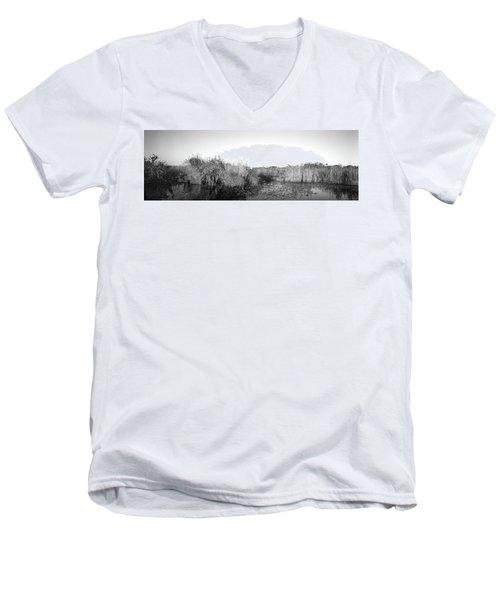 Tall Grass At The Lakeside, Anhinga Men's V-Neck T-Shirt