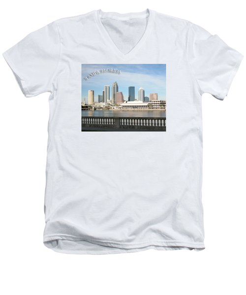 Tampa Skyline Men's V-Neck T-Shirt