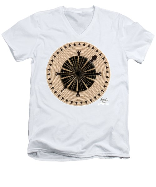 Tan Shell Men's V-Neck T-Shirt
