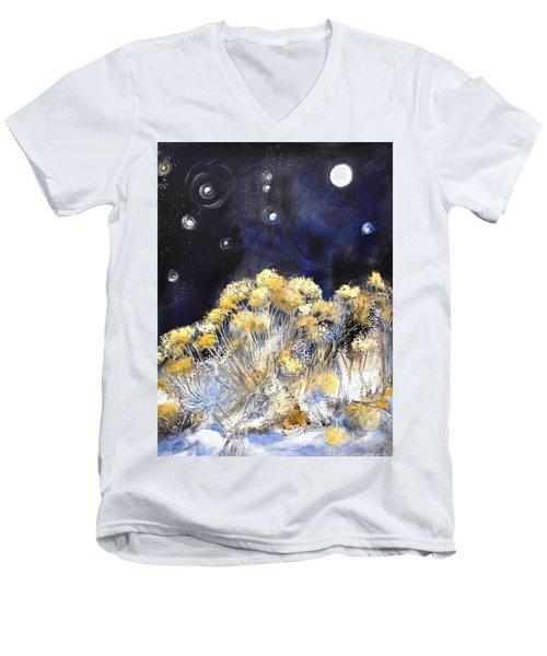 Taos Night Orbs Men's V-Neck T-Shirt