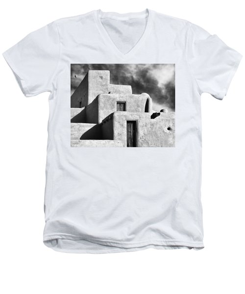 Taos Pueblo Stacks Men's V-Neck T-Shirt