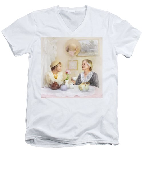 Tea And Talk Men's V-Neck T-Shirt