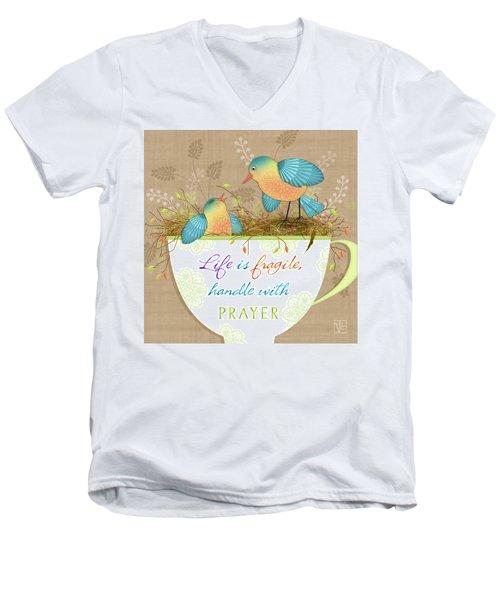 Tea Cup Wisdom Men's V-Neck T-Shirt