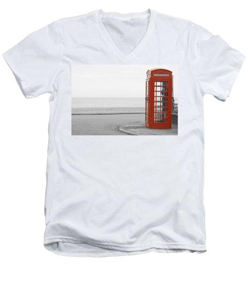 Telephone Booth Men's V-Neck T-Shirt