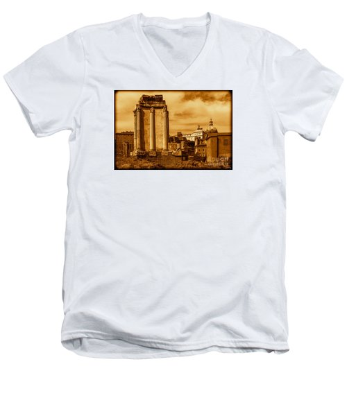Temple Of Vesta Men's V-Neck T-Shirt