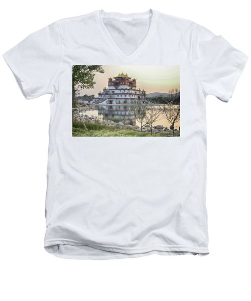 Temple Wuxi China Color Men's V-Neck T-Shirt