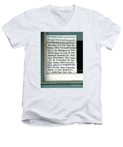 Temporary Gifts Men's V-Neck T-Shirt by Joe Jake Pratt