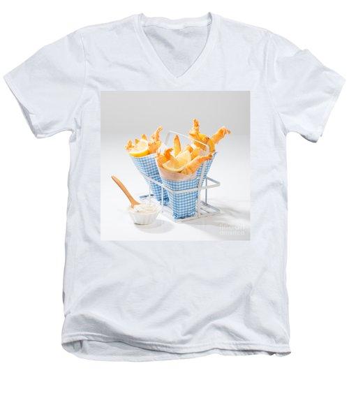 Tempura Prawns Men's V-Neck T-Shirt