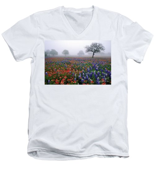 Texas Spring - Fs000559 Men's V-Neck T-Shirt