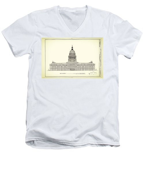 Texas State Capitol Architectural Design Men's V-Neck T-Shirt