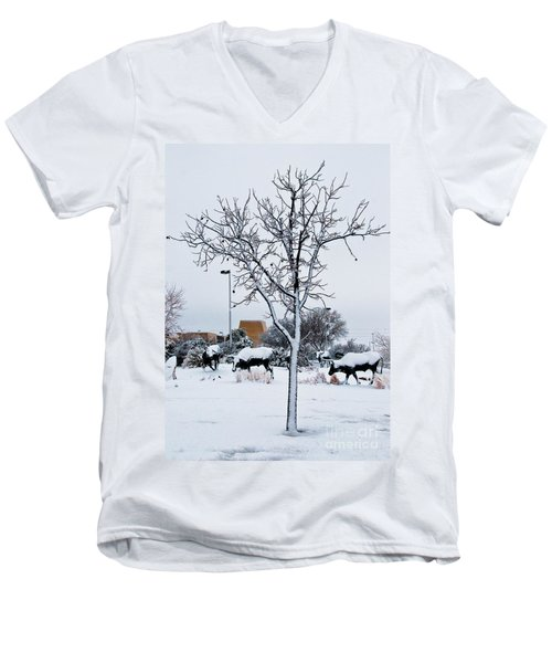 Men's V-Neck T-Shirt featuring the photograph Heritage Grounds by Mae Wertz