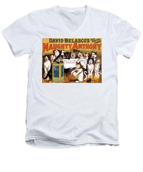 That Dainty Silken Stocking Men's V-Neck T-Shirt by Terry Reynoldson