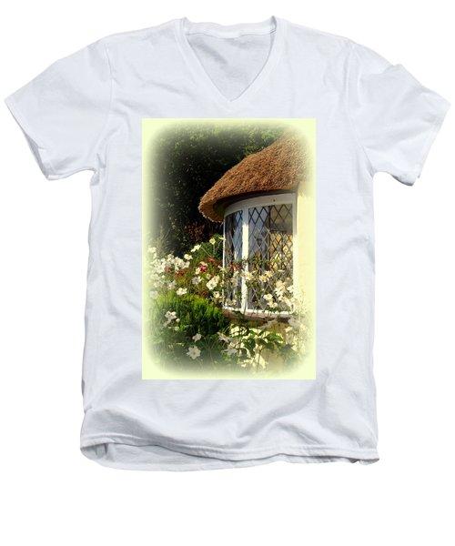 Thatched Cottage Window Men's V-Neck T-Shirt