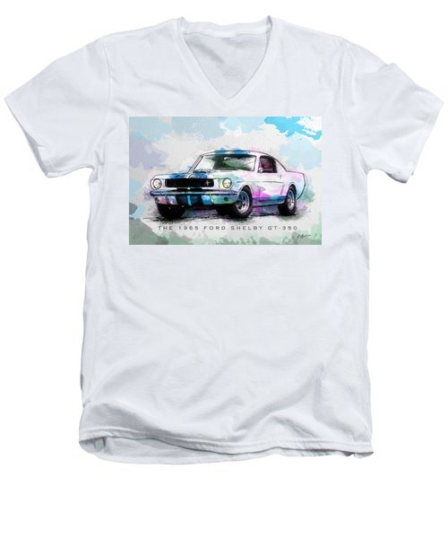 The 1965 Ford Shelby Gt 350  Men's V-Neck T-Shirt