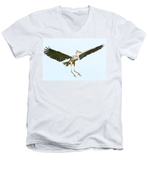 The Arrival Men's V-Neck T-Shirt by Heather King