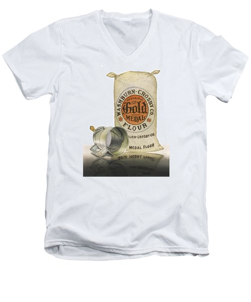 Men's V-Neck T-Shirt featuring the painting The Bakers Choice by Ferrel Cordle