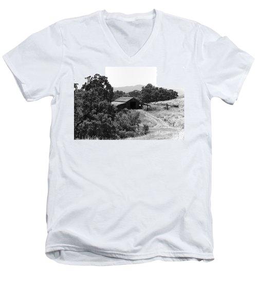 The Barn Men's V-Neck T-Shirt by Richard J Cassato