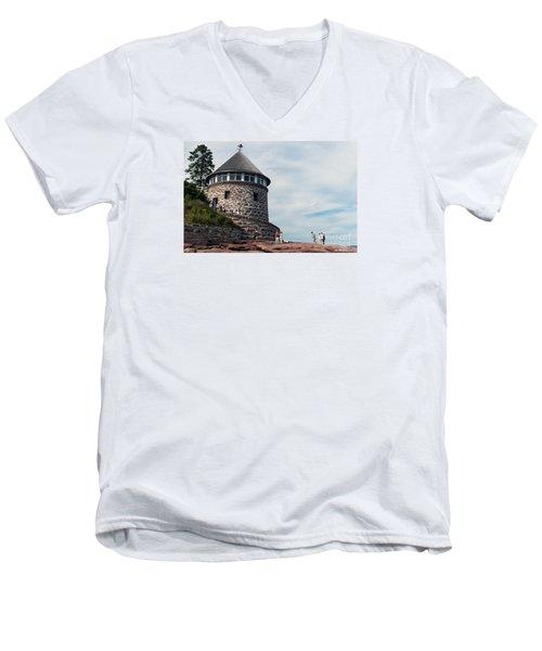 The Bath House On Ministers Island Nb Men's V-Neck T-Shirt