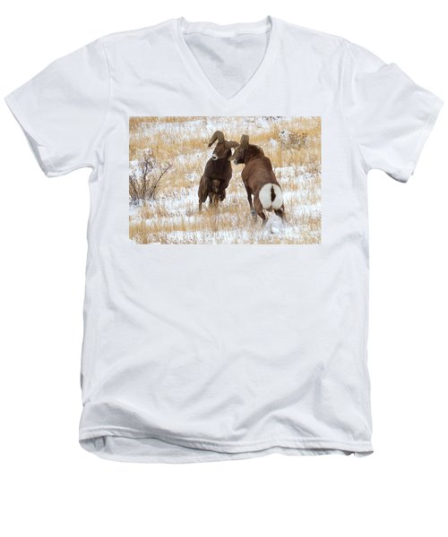The Battle For Dominance Men's V-Neck T-Shirt by Jim Garrison