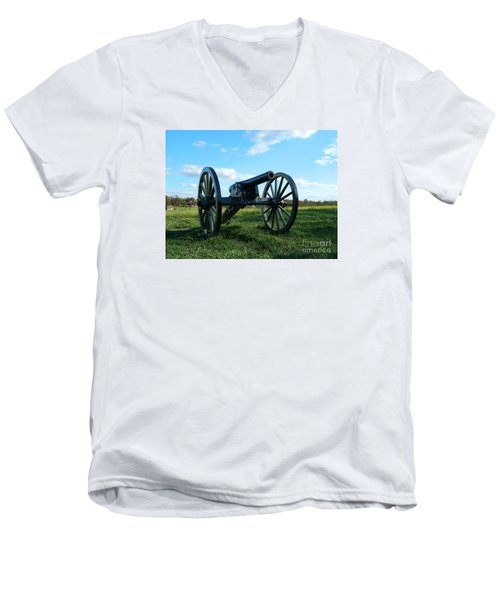 Men's V-Neck T-Shirt featuring the photograph The Battle Is Over - Gettysburg by Emmy Marie Vickers