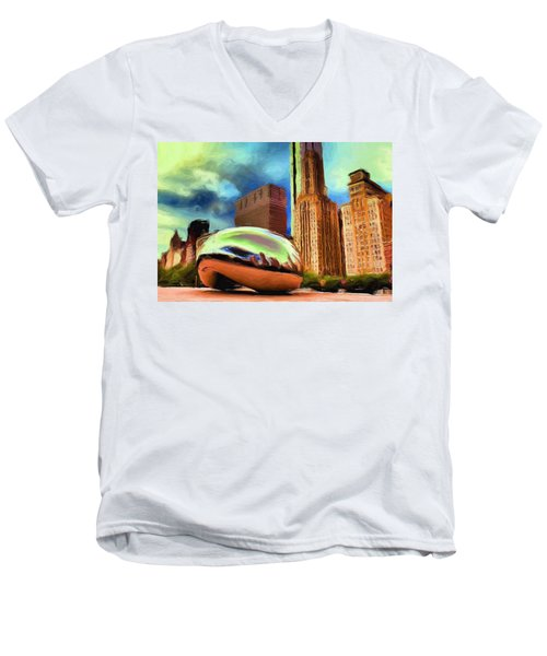 The Bean - 20 Men's V-Neck T-Shirt
