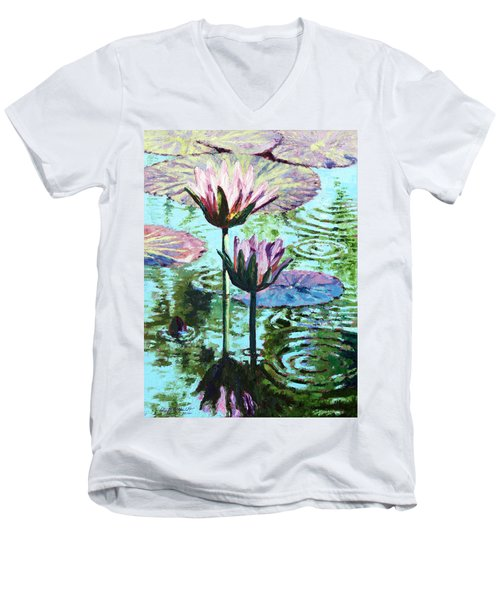 The Beauty Of The Lilies Men's V-Neck T-Shirt