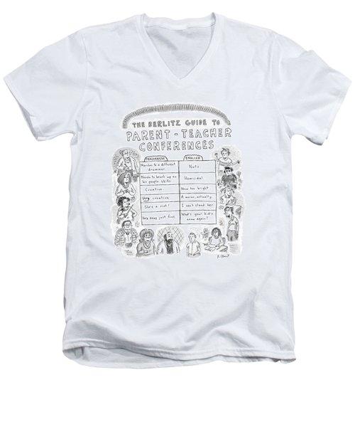 'the Berlitz Guide To Parent-teacher Conferences' Men's V-Neck T-Shirt