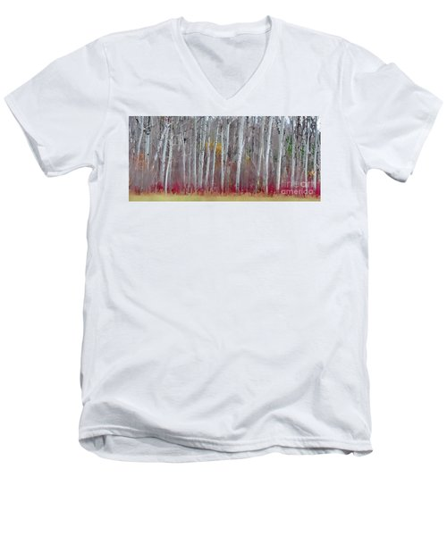 The Birches Panorama  Men's V-Neck T-Shirt