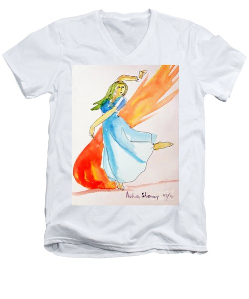 The Blazing Dancer Men's V-Neck T-Shirt