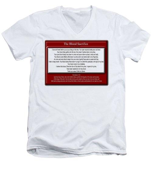 The Blood Sacrifice Men's V-Neck T-Shirt